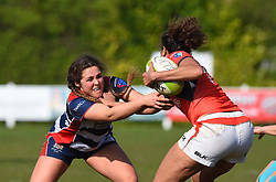 Sydney Gregson of Bristol Ladies in action against Saracens Women - Mandatory by-line: Paul Knight/JMP - 09/04/2017 - RUGBY - Cleve RFC - Bristol, England - Bristol Ladies v Saracens Women - RFU Women's Premiership Play-off Semi-Final