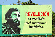 Revolutionary sign in Manzanillo, Granma, Cuba.