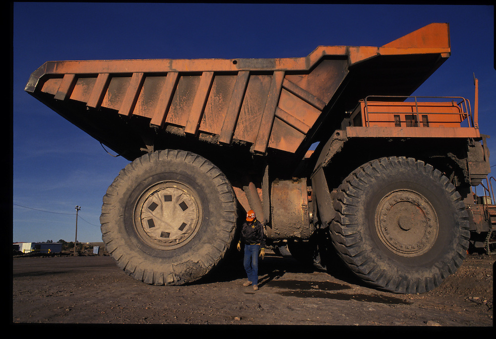 Arviso Lee - 170-ton truck driver.  Pittsberg and Midway Coal Mine.  Tse Bonito, NM  1993