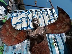 Sculpture at  Tacheles Kunsthaus or Art Gallery alternative collective on Oranienburger strasse in Mitte Berlin Germany