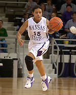 Kansas State guard Twiggy McIntyre brings the ball up court against Idaho State, during the second half at Bramlage Coliseum in Manhattan, Kansas, March 17, 2006.  K-State defeated the Bengals 88-68 in the first round of the WNIT.