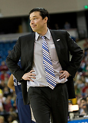 March 29, 2010; Sacramento, CA, USA; Xavier Musketeers head coach Kevin McGuff during the second half against the Stanford Cardinal in the finals of the Sacramental regional in the 2010 NCAA womens basketball tournament at ARCO Arena. Stanford defeated Xavier 55-53.