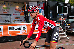 Rider of Lotto Soudal Ladies before the sign-on at the Holland Ladies Tour, Zeddam, Gelderland, The Netherlands, 1 September 2015.<br /> Photo: Pim Nijland / PelotonPhotos.com
