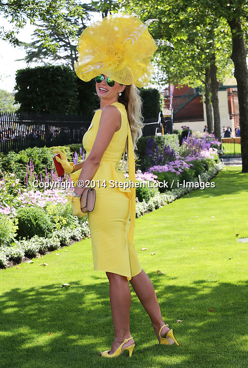Image licensed to i-Images Picture Agency. 17/06/2014.   Ester Dohnalova on  the opening day of Royal Ascot, United Kingdom. Picture by Stephen Lock / i-Images