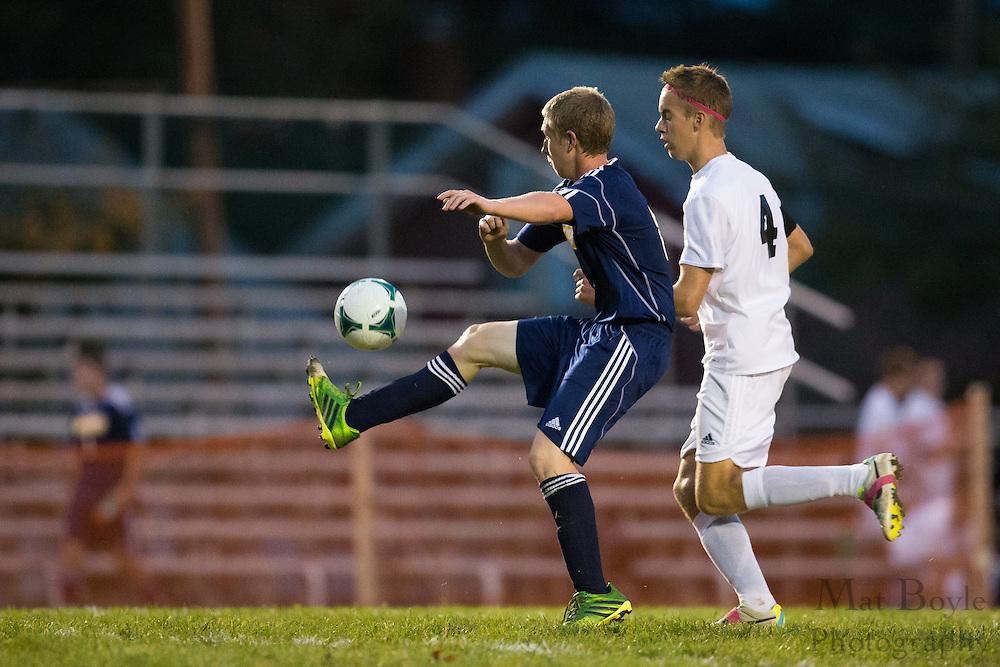 Pitman High School Boys Soccer Senior Night vs Gloucester City High School in Pitman, NJ on Wednesday October 16, 2013. (photo / Mat Boyle)