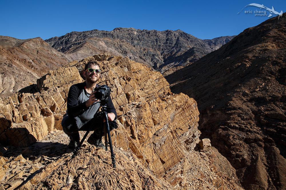 Dan Kitchens at Mosaic Canyon, Death Valley