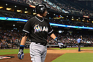 PHOENIX, AZ - JUNE 12:  Ichiro Suzuki #51 of the Miami Marlins walks back to the dugout during the against the Arizona Diamondbacks at Chase Field on June 12, 2016 in Phoenix, Arizona.  The Arizona Diamondbacks won 6-0.  (Photo by Jennifer Stewart/Getty Images)