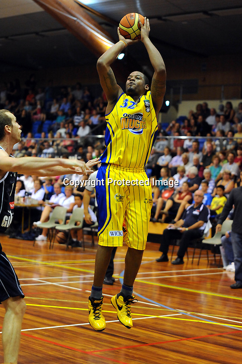Nuggets Antione Tisby. NBL - Nelson Giants v Otago Nuggets at the Trafalgar centre, Nelson on Friday 19 March 2010. Photo: Chris Symes/PHOTOSPORT