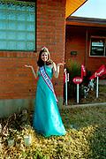 Winner of a teenage beauty pageant; Miss Texas Princess, USA, 2000's