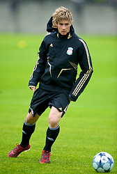 LIVERPOOL, ENGLAND - Tuesday, September 30, 2008: Liverpool's Fernando Torres training at Melwood ahead of the UEFA Champions League Group D match against PSV Eindhoven. (Photo by David Rawcliffe/Propaganda)