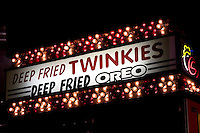 Deep Fried Twinkies and Oreo Neon Sign, L.A. County Fair, California