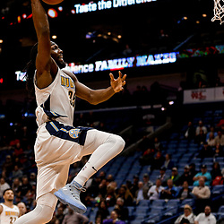 Dec 6, 2017; New Orleans, LA, USA; Denver Nuggets forward Kenneth Faried (35) dunks against the New Orleans Pelicans during the first quarter at the Smoothie King Center. Mandatory Credit: Derick E. Hingle-USA TODAY Sports