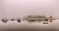 Early morning fog Cohasset Harbor Cohasset, Massachusetts