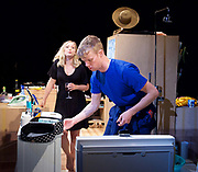 Touch <br /> by Vicky Jones <br /> at Soho Theatre, London, Great Britain <br /> press photocall 11th July 2017 <br /> <br /> <br /> Matthew Aubrey as Sam <br /> <br /> <br /> <br /> Amy Morgan as Dee <br /> <br /> <br /> <br /> <br /> Photograph by Elliott Franks <br /> Image licensed to Elliott Franks Photography Services
