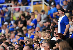A Birmingham City fan shouts at his team - Mandatory by-line: Paul Roberts/JMP - 26/08/2017 - FOOTBALL - St Andrew's Stadium - Birmingham, England - Birmingham City v Reading - Sky Bet Championship