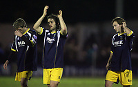 Photo: Paul Thomas.<br /> Bury v Weymouth. The FA Cup. 21/11/2006.<br /> <br /> Dejected Weymouth.