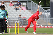 Lancashire Thunders Emma Lamb during the Women's Cricket Super League match between Lancashire Thunder and Surrey Stars at the Emirates, Old Trafford, Manchester, United Kingdom on 7 August 2018.