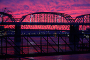 2013.01.16 SUNSET METRO : The sun sets in the West over the Ohio River ushering in milder temperatures for the next day. The Enquirer/Jeff Swinger
