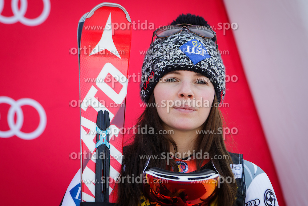 Tina Weirather (LIE) during flower ceremony after the 7th Ladies' Giant slalom at 52nd Golden Fox - Maribor of Audi FIS Ski World Cup 2015/16, on January 30, 2016 in Pohorje, Maribor, Slovenia. Photo by Ziga Zupan / Sportida