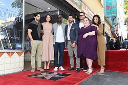 Milo Ventimiglia, Sterling K. Brown, Jon Huertas, Justin Hartley, Chrissy Metz, and Susan Kelechi attends the ceremony honoring Mandy Moore with a Star on the Hollywood Walk of Fame on March 25, 2019 in Los Angeles, California. Photo by SAUL GOODMAN/ABACAPRESS.COM