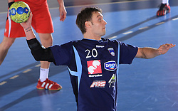 Luka Zvizej at handball match of 5th Round of qualifications for EHF Euro 2010 in Austria between National team of Slovenia vs Bulgaria, on November 30, 2008 in Velenje, Slovenia. (Photo by Vid Ponikvar / Sportida)