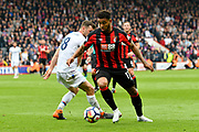 Joshua King (17) of AFC Bournemouthgoes past James McArthur (18) of Crystal Palace during the Premier League match between Bournemouth and Crystal Palace at the Vitality Stadium, Bournemouth, England on 7 April 2018. Picture by Graham Hunt.