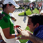 Lorena Ochoa, a fan favorite, is congratulated after winning the Safeway International at Superstition Mountain, Arizona.