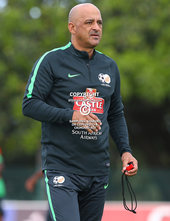 Owen Da Gama (Head Coach) of Bafana Bafana during the Bafana Bafana Training at People's Park, Moses Mabhida Stadium in Durban,21st March 2017 (Steve Haag)