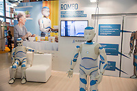 LYON, FRANCE - MARCH 19: A general view at the Innorobo International Robotics Trade Show on on March 19, 2014 in Lyon, France. More than 300 robots and technologies will be demonstrated at Innorobo 2014, the biggest robotic show of its kind in Europe dedicated to service robotics. (Photo by Bruno Vigneron/Getty Images)