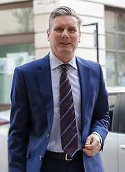 © Licensed to London News Pictures. 24/03/2019. London, UK.  Shadow Brexit secretary Sir Keir Starmer MP arrives to appear on the Andrew Marr show at BBC Broadcasting House in London.  Photo credit: Vickie Flores/LNP