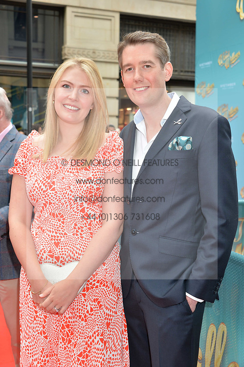 Analise Hendry, Jamie Hendry arriving at The opening night of Wind in The Willows at the London Palladium, Argyll Street, London England. 29 June 2017.<br /> Photo by Dominic O'Neill/SilverHub 0203 174 1069 sales@silverhubmedia.com