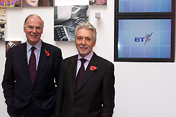 Peter Bonfield,(right) Chief Executive, Sir Iain Vallance, Chairman, November 9, 2000. Photo by Andrew Parsons / i-Images.