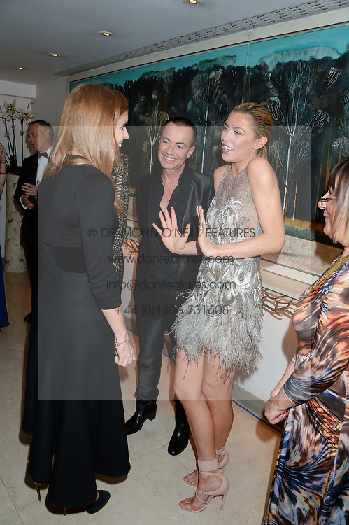 PRINCESS BEATRICE OF YORK talks to ABBEY CLANCY, JULIEN MACDONALD and HILARY ALEXANDER at Fashion For The Brave at The Dorchester, Park Lane, London on 8th November 2013.