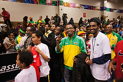 Ethiopian family and fans
