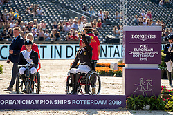 Podium Freestyle, Grade III, Bronze medal, Minneci Barbara, BEL<br /> European Championship Dressage<br /> Rotterdam 2019<br /> © Hippo Foto - Dirk Caremans