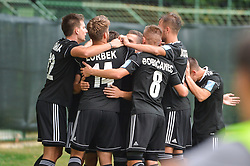 Players of NS Mura celebrates during football match between NS Mura and NK Domzale in 3rd Round of Prva liga Telekom Slovenije 2018/19, on Avgust 05, 2018 in Mestni stadion Fazanerija, Murska Sobota, Slovenia. Photo by Mario Horvat / Sportida