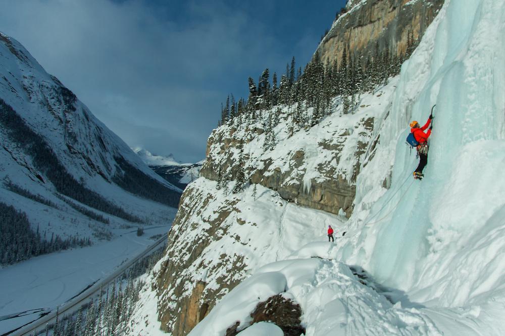 Ice Climbing Weeping Wall