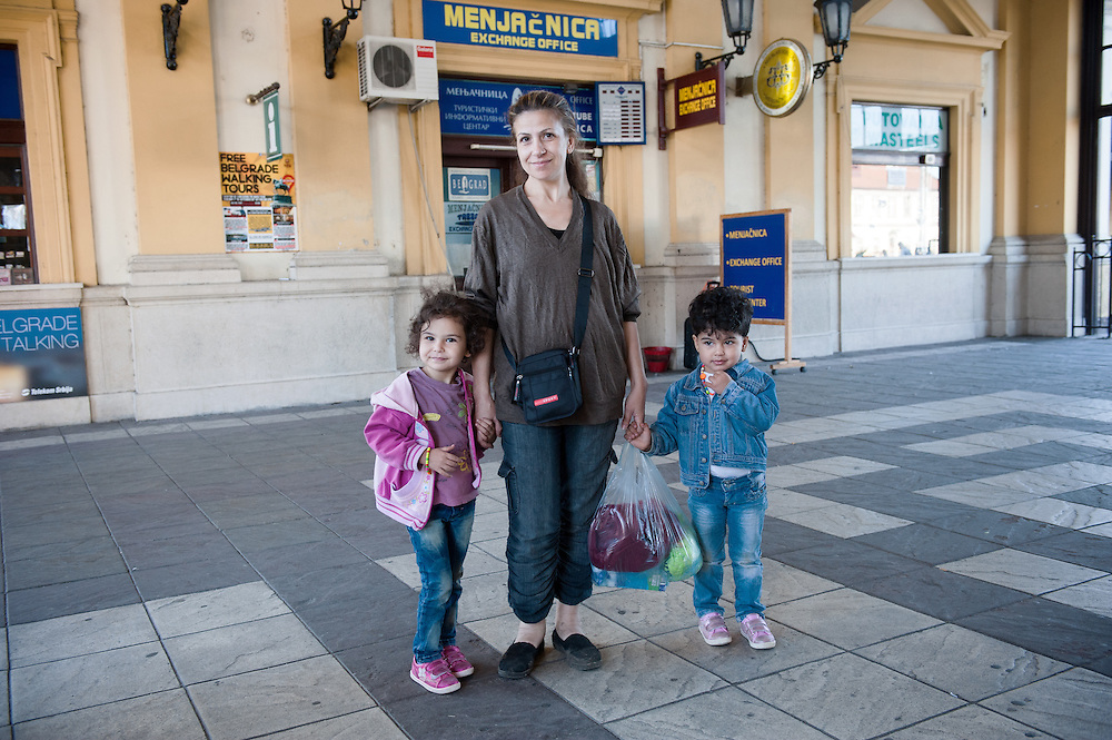 Morning, Monday 14th of September 2015. Belgrade central train station. The bus from Preshevo left us outside the central bus station of Belgrade next to the train station. Aysha bought a ticket to the bus to Kanisha and the went to exchange her dollars to Euros. She was stressed that we won't make it in time to Hungarian border. There where rumours that the border will close at noon and rumours that it will close at midnight.