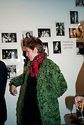 ANNA CURTIS, The Way We Wore.- Photographs of parties in the 70's by Nick Ashley. Sladmore Contemporary. Bruton Place. London. 13 January 2010.<br /> ANNA CURTIS, The Way We Wore.- Photographs of parties in the 70's by Nick Ashley. Sladmore Contemporary. Bruton Place. London. 13 January 2010. *** Local Caption *** -DO NOT ARCHIVE-© Copyright Photograph by Dafydd Jones. 248 Clapham Rd. London SW9 0PZ. Tel 0207 820 0771. www.dafjones.com.