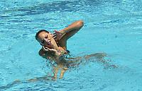 Svømming<br /> VM i svømming - synkronsvømming og stup 2003<br /> Foto: DPPI/Digitalsport<br /> <br /> NORWAY ONLY<br /> <br /> SWIMMING - FINA WORLD CHAMPIONSHIPS 2003 - BARCELONA (ESP) - 17/07/2003 - PHOTO: OLIVIER GAUTHIER / DPPI<br /> SYNCHRONIZED SWIMMING SOLO - VIRGINIE DEDIEU (FRA)