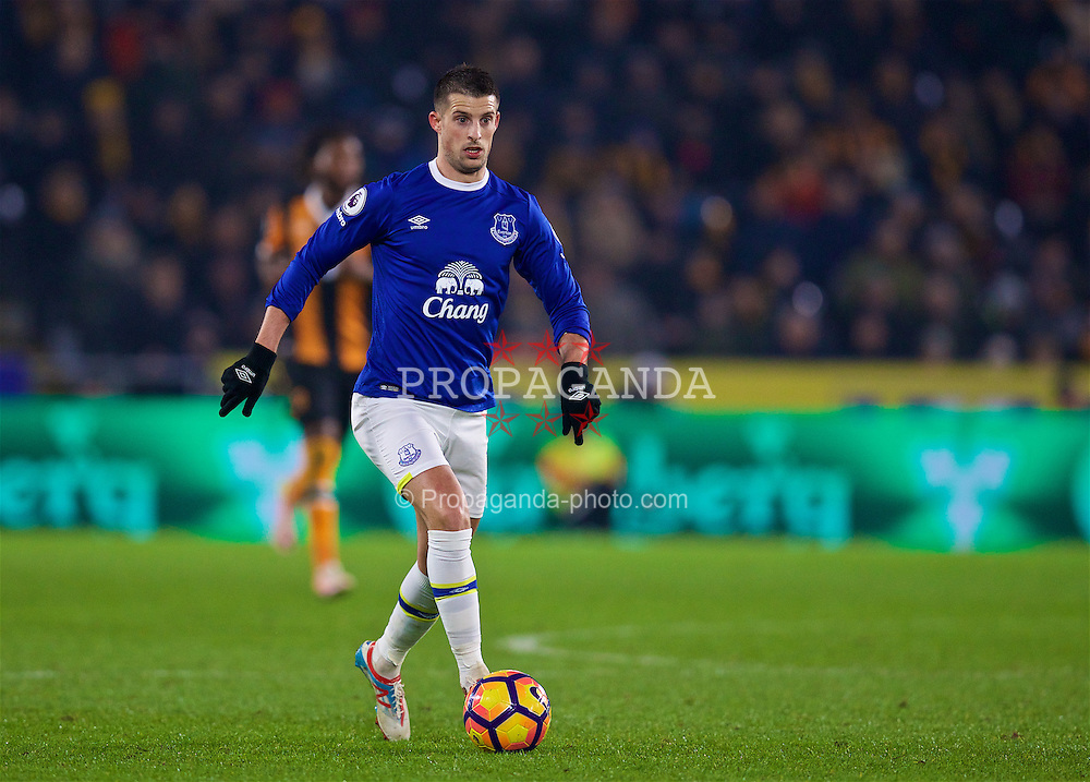 KINGSTON-UPON-HULL, ENGLAND - Friday, December 30, 2016: Everton's Kevin Mirallas in action against Hull City during the FA Premier League match at the KCOM Stadium. (Pic by David Rawcliffe/Propaganda)