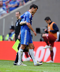 Michael Ballack goes off with Ankle injury and will now miss this years World Cup 2010 in South Africa with Germany..Chelsea 2009/10.Chelsea V Portsmouth (1-0) 15/05/10 .The FA Cup Final Wembley Stadium