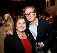 Bill Nighy and Pauline Etkin, Nordoff Robbins Carol Service  2011 sponsored by Coutts. London..Wednesday, 14. Dec 2011