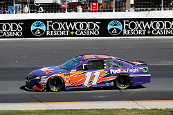 July 21, 2018 - Loudon, NH, U.S. - LOUDON, NH - JULY 21: Denny Hamlin, Monster Energy NASCAR Cup Series driver of the FedEx Freight Toyota (11), during practice for the Foxwoods Resort Casino 301 on July 21, 2018, at New Hampshire Motor Speedway in Loudon, New Hampshire. (Photo by Fred Kfoury III/Icon Sportswire) (Credit Image: © Fred Kfoury Iii/Icon SMI via ZUMA Press)