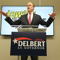 Delbert Hoseman announces Wednesday that he will seek the office of Lt. Governor for the State of Mississippi.