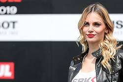 May 11, 2019 - Imola, Bologna, Italy - Paddock Girl during the Superbike World Championship, Italian Round at Autodromo di Imola on May 11, 2019 in Imola, Italy. (Credit Image: © Emmanuele Ciancaglini/NurPhoto via ZUMA Press)