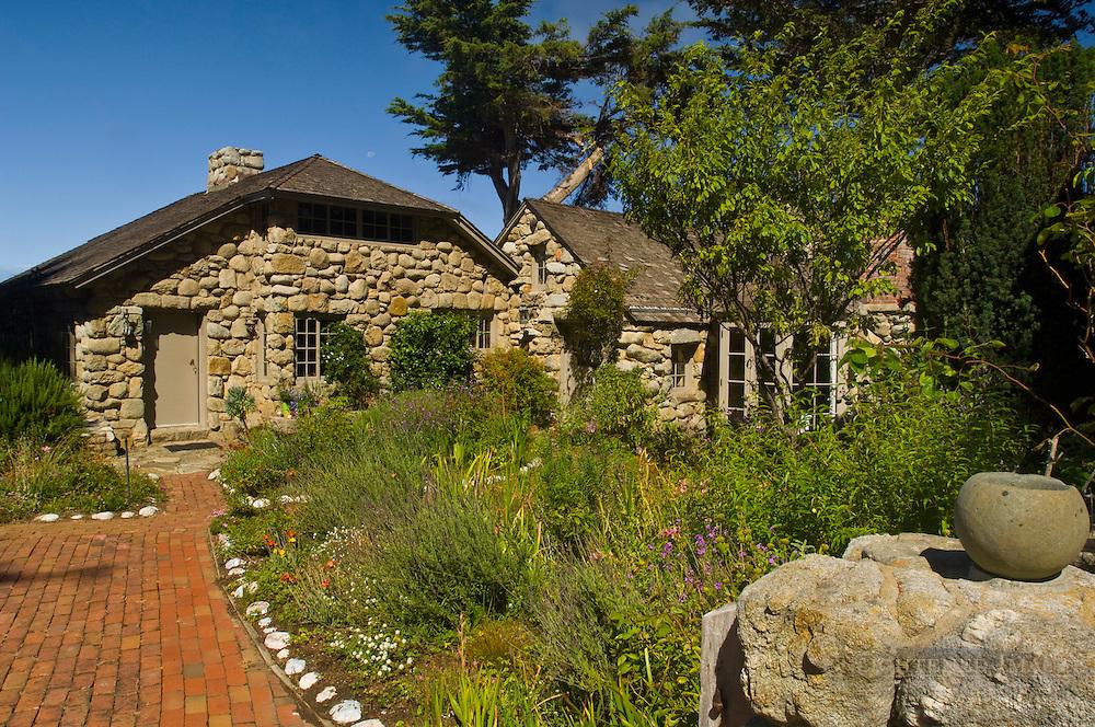 Tor House, stone cottage home of poet Robinson Jeffers, Carmel-by-the-Sea, Carmel, Monterey Peninsula, California