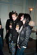 POLLY MORGAN; SUE WEBSTER, Dinner to mark 50 years with Vogue for David Bailey, hosted by Alexandra Shulman. Claridge's. London. 11 May 2010