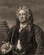 Martin Folkes (1690-1754)  English antiquary, born in London.  President of the Royal Society (1741-1753).  President of the Society of Antiquaries (1749-1754).  Engraving after the portrait by William Hogarth.