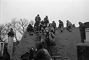 Wanstonia Eviction, an anti-road protest, apposing the construction of the East cross traffic link to the M11, Leytonstone, London, 16th February 1994.